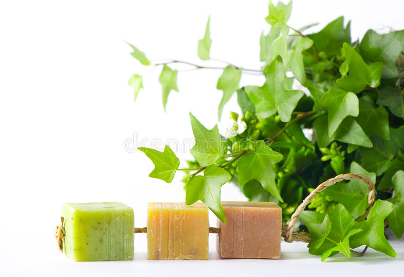 Download Three Pieces Of Organic Soap Stock Image - Image: 17812821