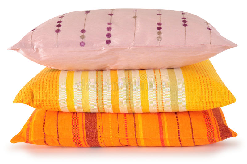 Three pillows stock image