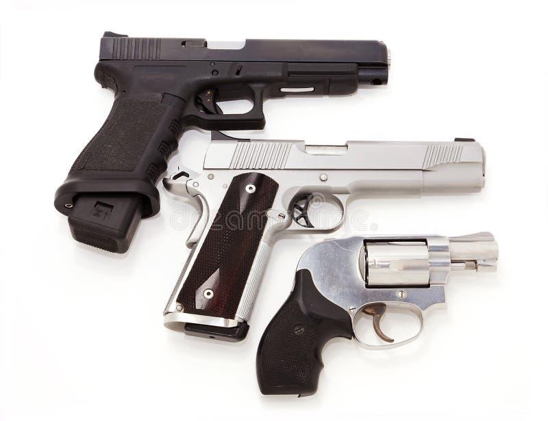 Download Three pistols stock photo. Image of automatic, firearm - 8402842