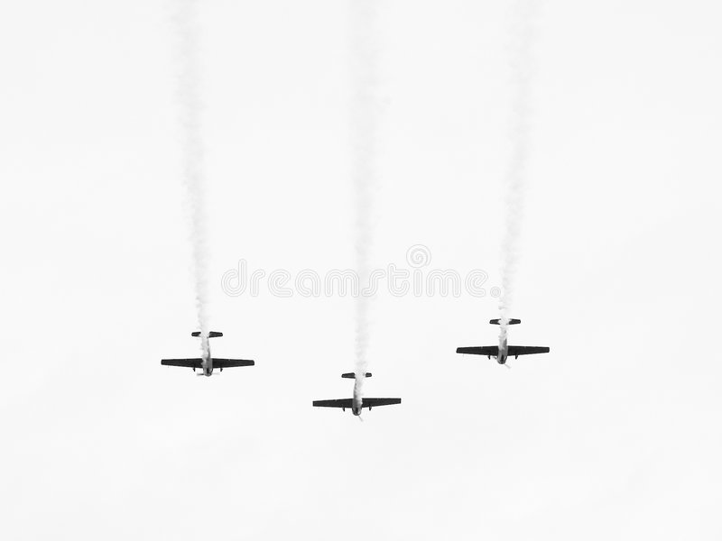 Download Three Planes Flying Over Stock Photo - Image: 132140