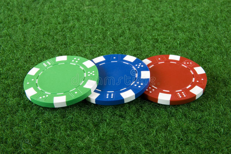 Download Three poker chips stock photo. Image of casino, chance - 11222802