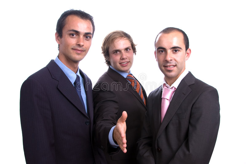Download Three Positive Business Men Stock Photo - Image: 3592790