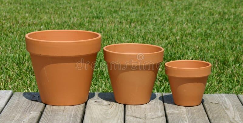 Three Pots are We stock photos
