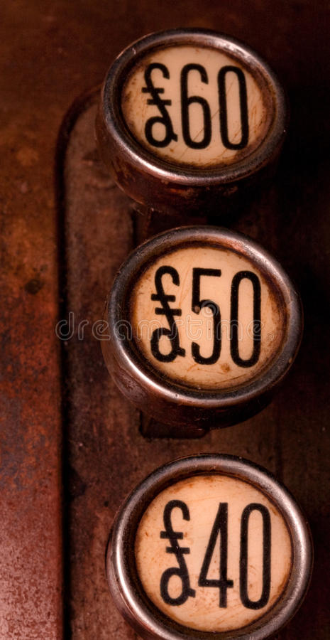 Download Three pound buttons stock image. Image of shop, bill - 12894243