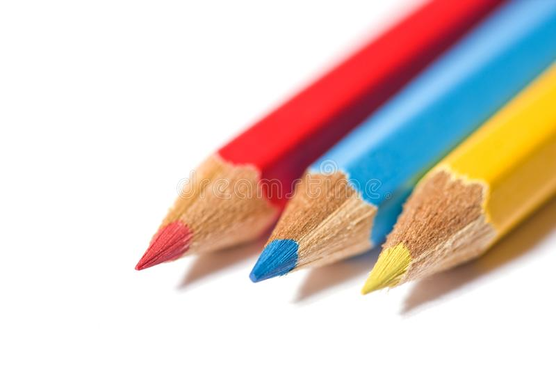 Three primary colors stock photo