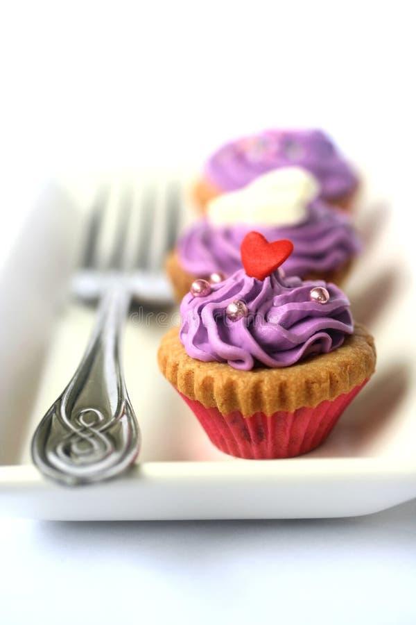 Three purple beauties royalty free stock image