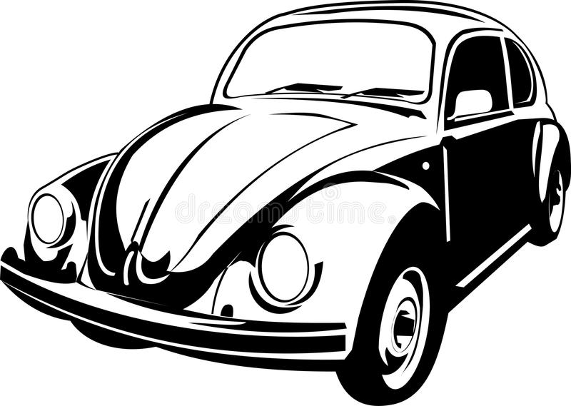 Three quarter view of a beetle. A three quarter view of a volkswagen beetle vector illustration