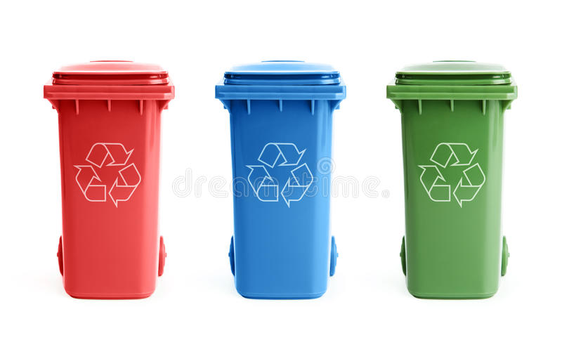 Download Three Recycle Bins Stock Images - Image: 24123474