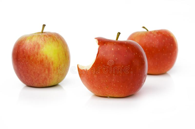 Three Red Apple Stock Photos