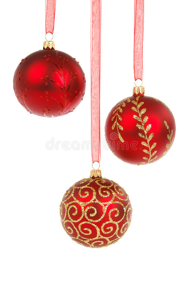 Free Three Red Baubles Stock Photos - 17016853