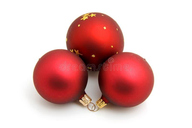 Download Three Red Christmas Balls Royalty Free Stock Photo - Image: 12027045