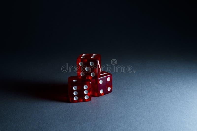 Three Red Dices stock photos