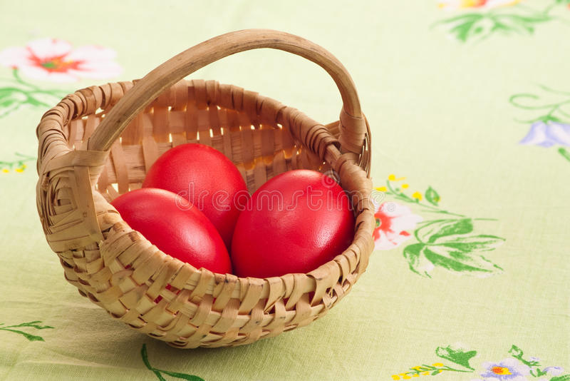 Three Red Eggs Royalty Free Stock Photo