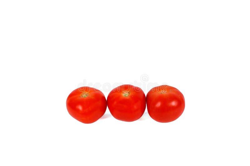 Three Red Tomatos Royalty Free Stock Image