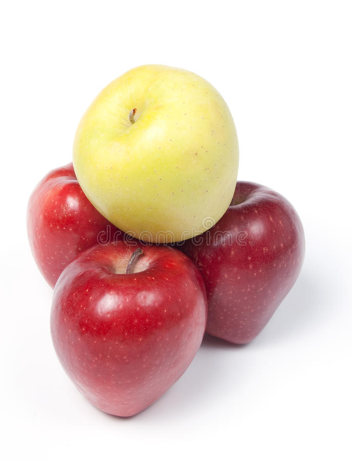 Download Three Red And Yellow Apples In A Pyramid Stock Photo - Image: 11645250