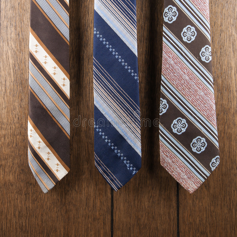 Free Three Retro Ties. Stock Photos - 2052133