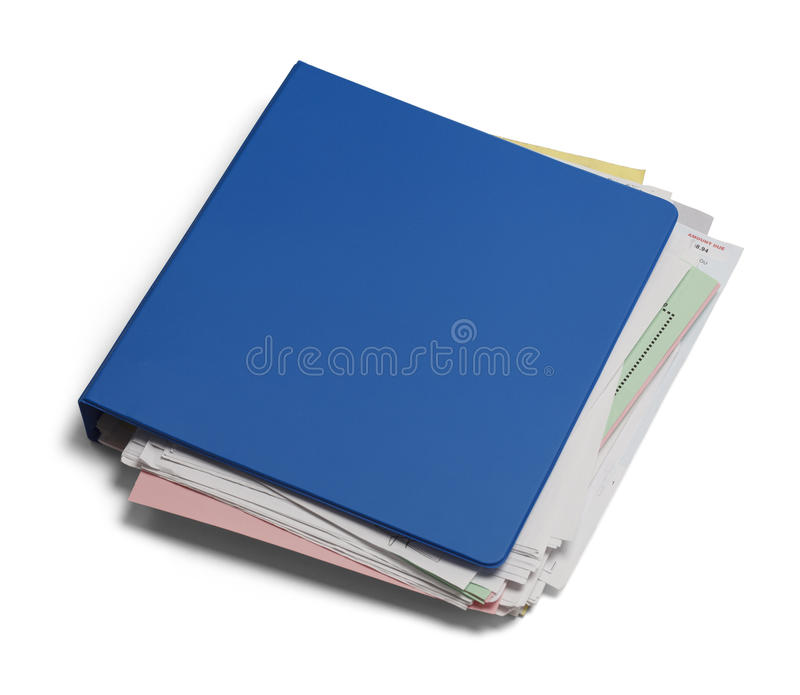 Three Ring Binder Stock Photo. Image Of Papers, Business