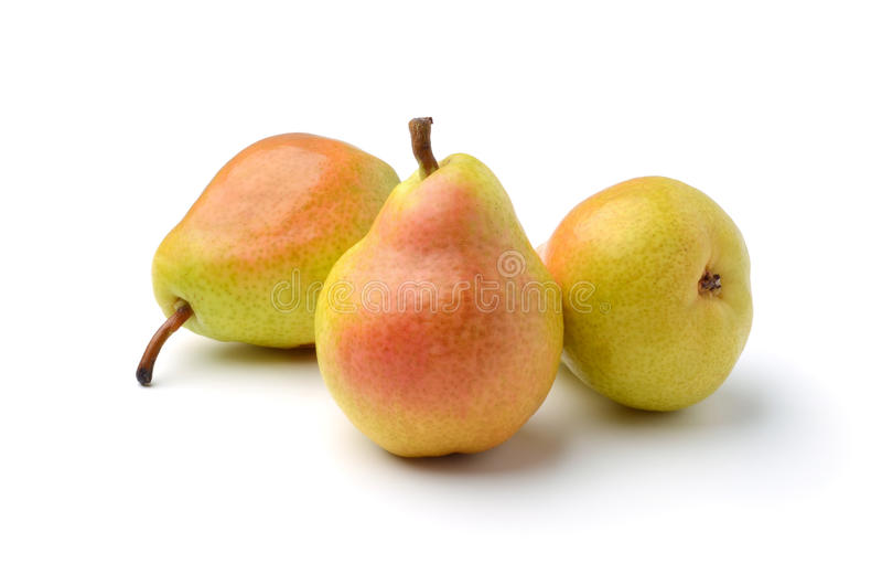 Three ripe pears royalty free stock photo