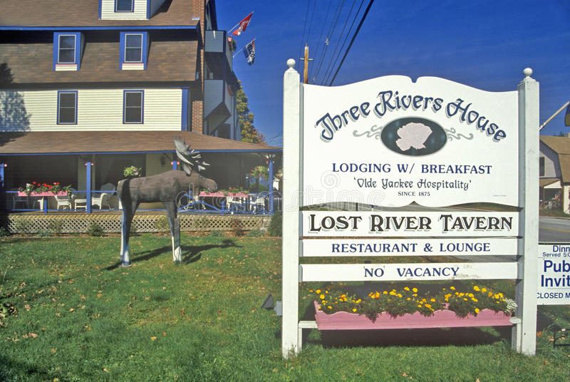 Three Rivers House, a bed and breakfast on Route 16, Gorham, NH royalty free stock images