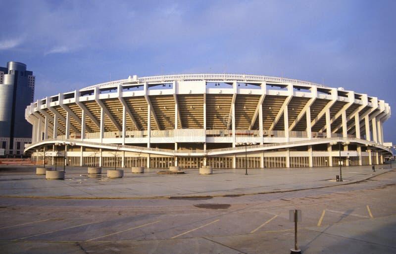Three Rivers Stadium en el río Ohio, Cincinnati, OH imagen de archivo