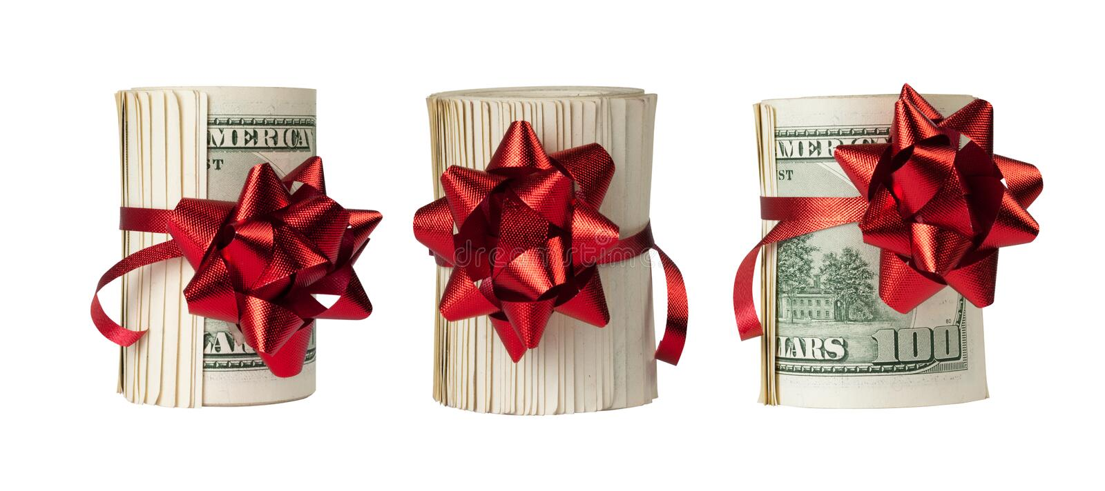 Download Three Rolls Of $100 Bills Royalty Free Stock Photography - Image: 21000537