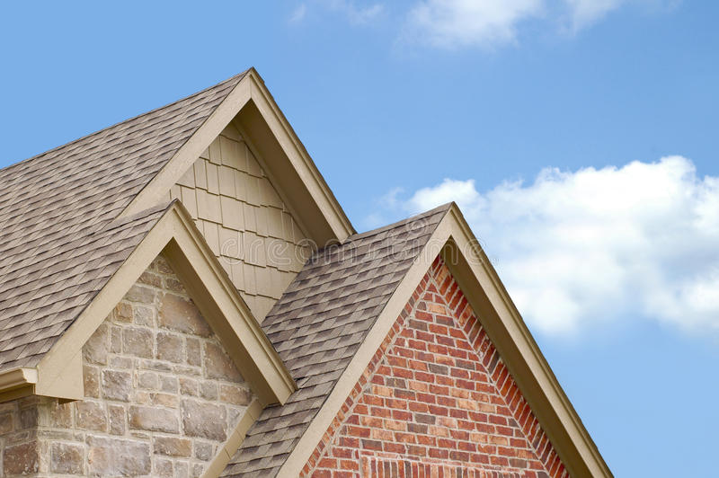 Three Roof Gables stock images