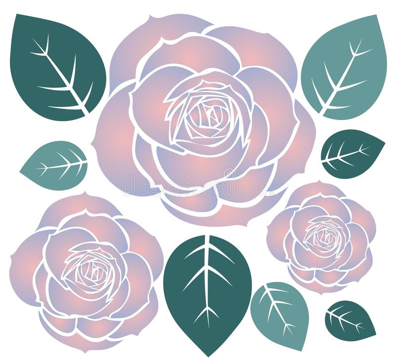 Download Three roses stock vector. Illustration of decorative - 11208141