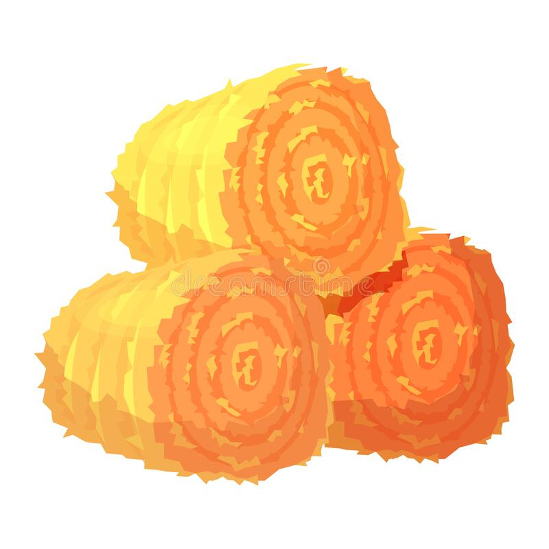 Free Three Round Hay Bales Or Rolls Illustration Royalty Free Stock Images - 172766259