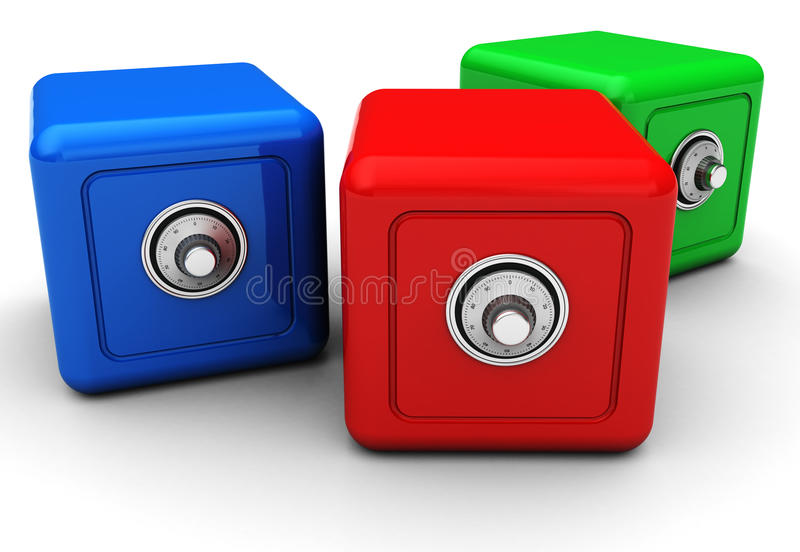 Download Three  Safes Royalty Free Stock Photos - Image: 25584858