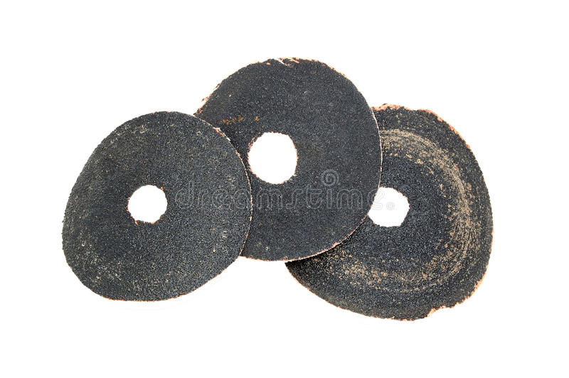 Download Three sandpaper disk stock photo. Image of rough, ring - 18956216