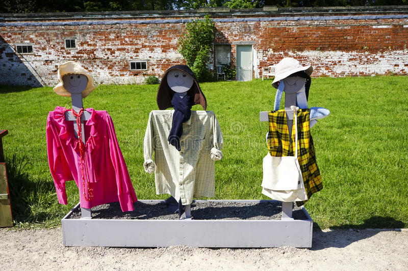 Three Scarecrows stock photo