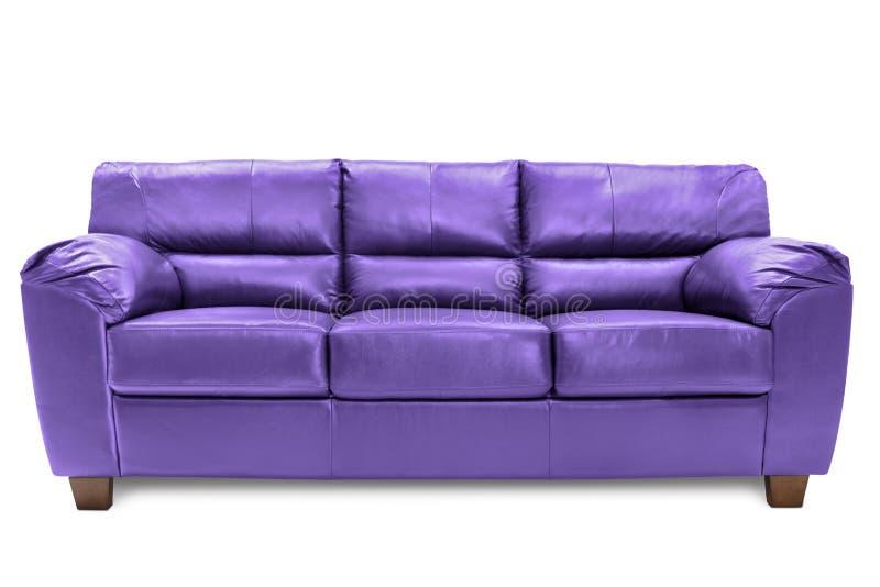 Three seats sofa cozy blue royalty free stock photos