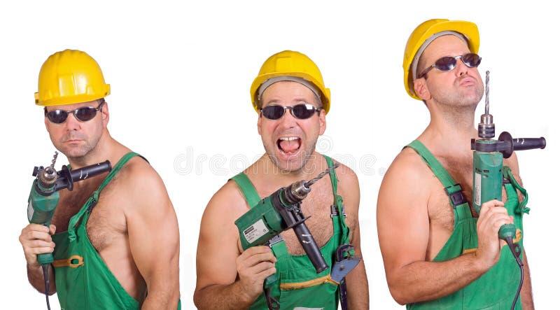 Three serviceman stock photography