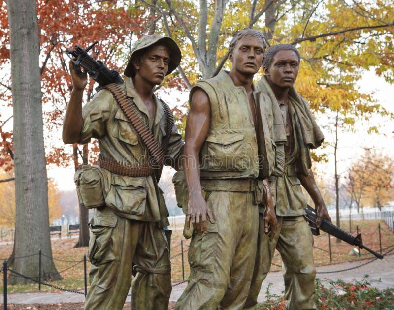 Three Servicemen Statue Washington DC stock photography