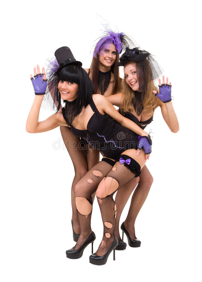 Download Three Women Wearing Black Lingerie Posing Stock Image - Image of lingerie, model: 26861033