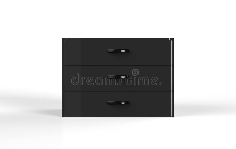 Three shelf drawer royalty free illustration