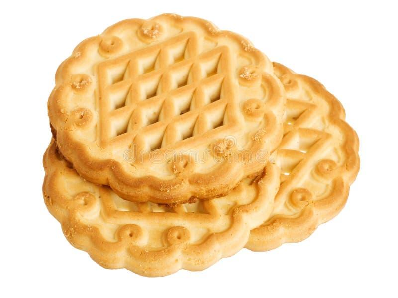 Three shortbread cookies royalty free stock image