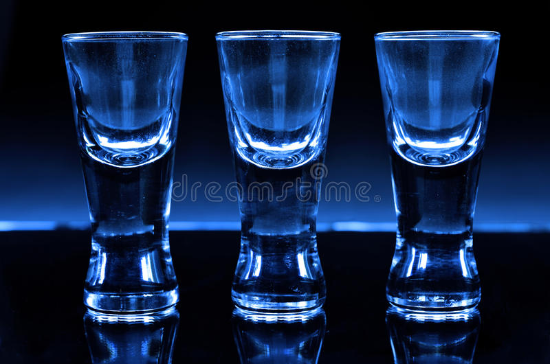 Three shot glasses