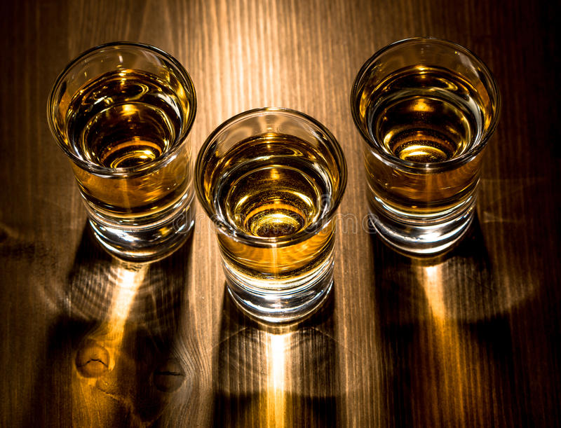 Three shots royalty free stock photos