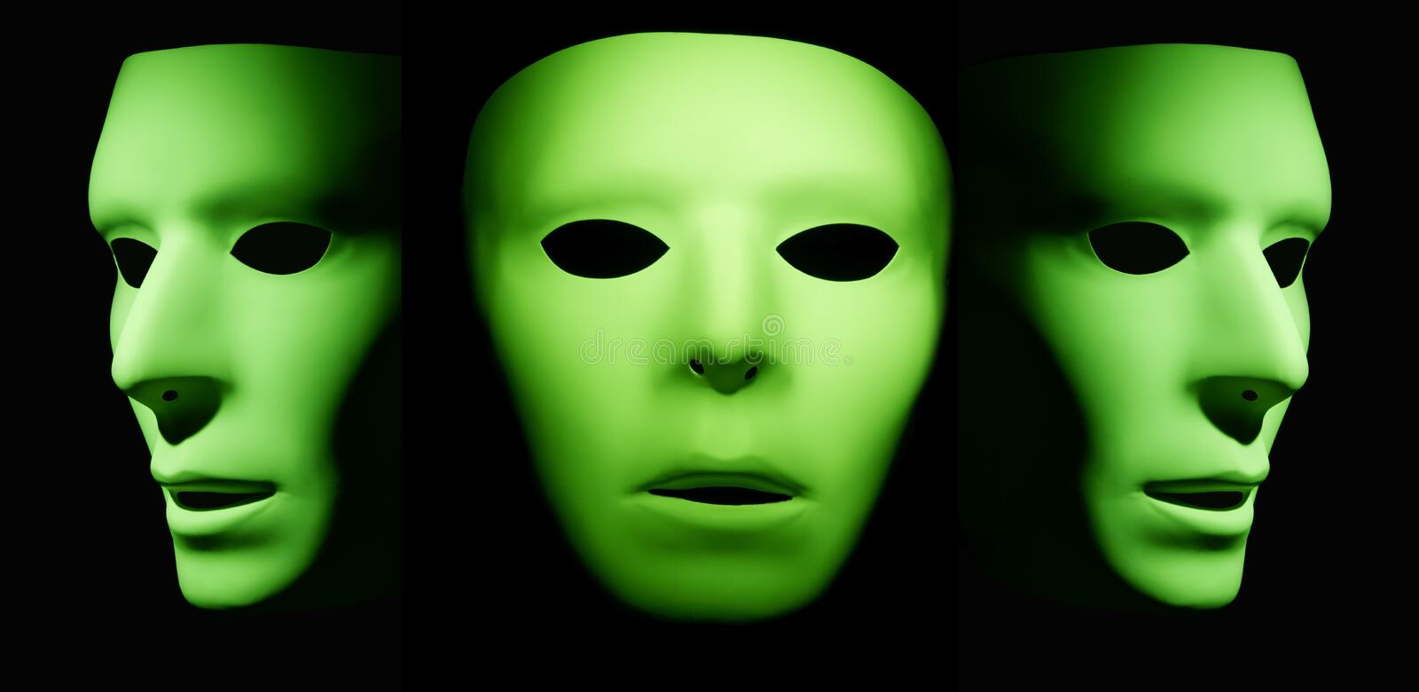 Three Sides To One Face Stock Image