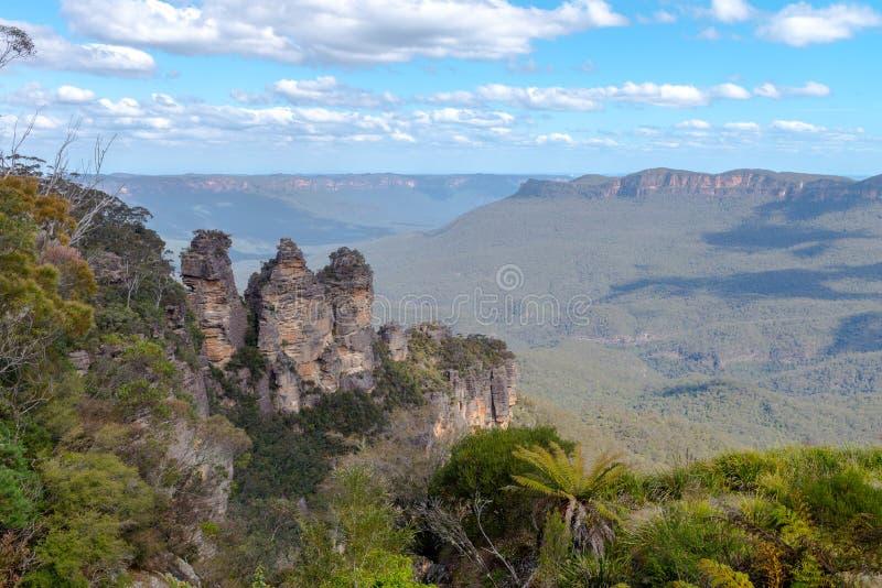 Three Sister Mountain Range Australia. Oct 2017 royalty free stock image