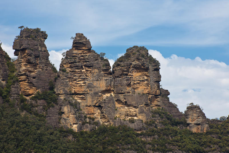 Three Sisters in Blue Mountains, Australia stock image