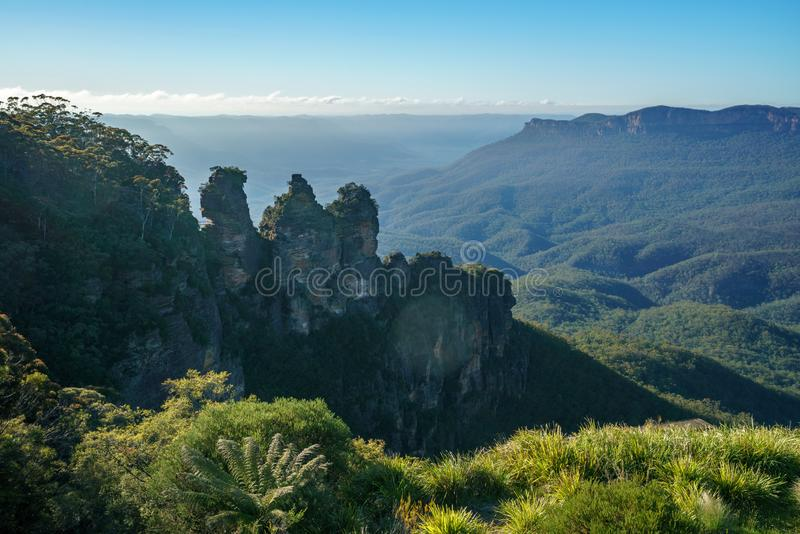 Three sisters from echo point, blue mountains national park, australia 2 royalty free stock photos
