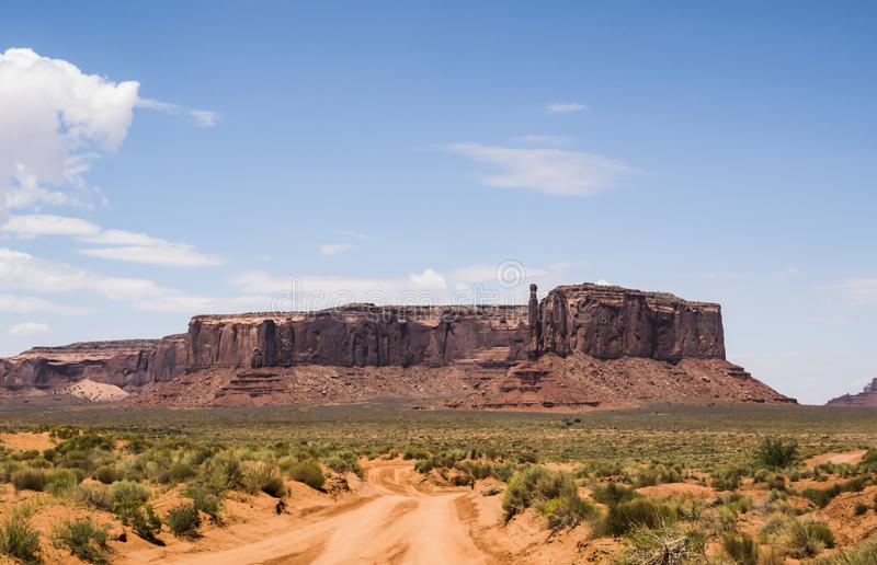 Three Sisters, Monument Valley stock photo