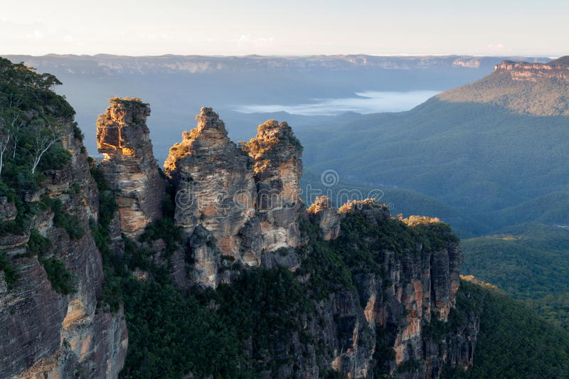 Three Sisters Mountains royalty free stock image