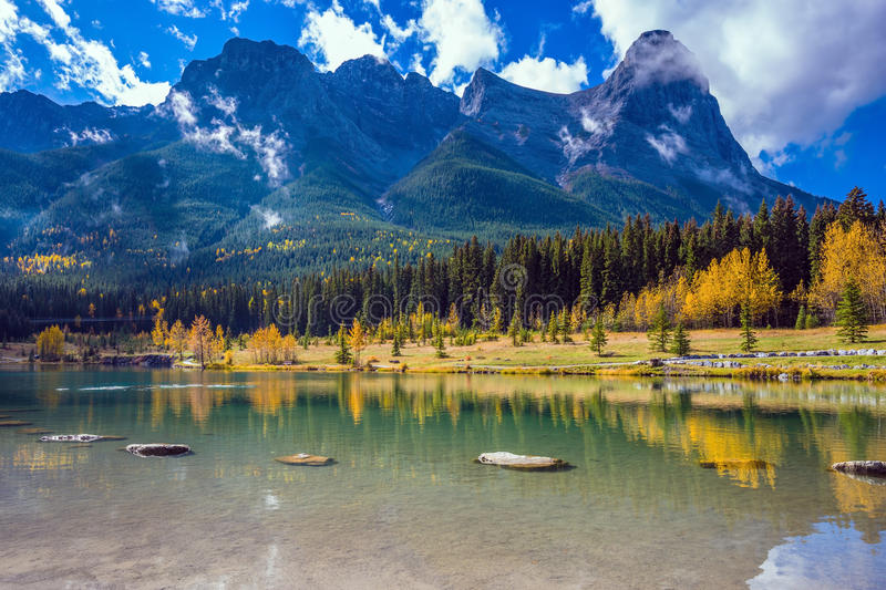 Download The Three Sisters Mountains Stock Photo - Image of canada, america: 79426136