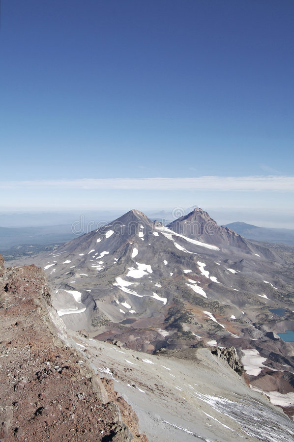Three Sisters from South Summit stock images