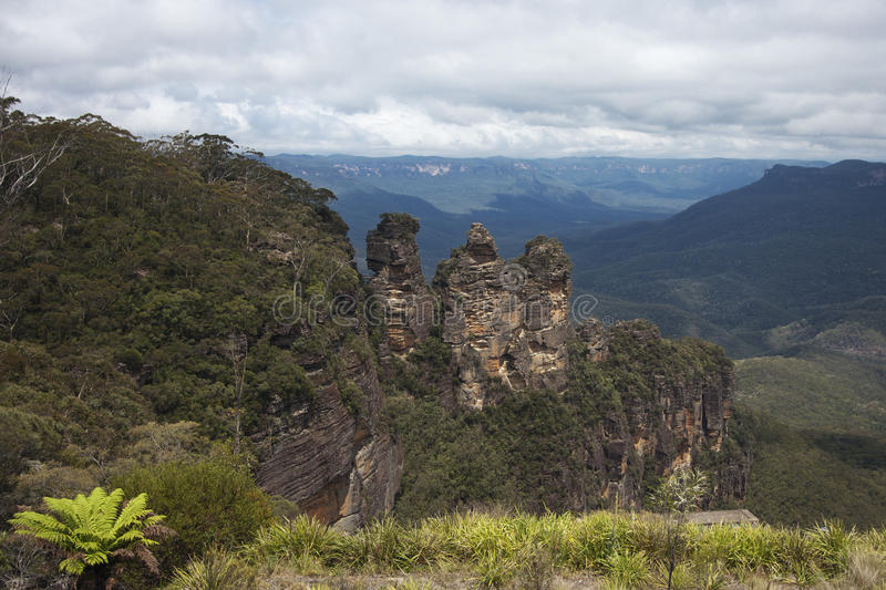 The three sisters and their surroundings royalty free stock photos