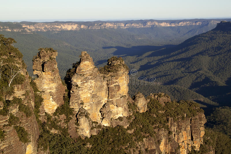 Download Three Sisters Valley stock image. Image of sundown, viewpoint - 14859427