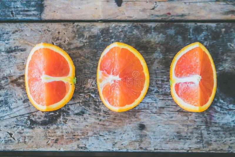 Three Slice of Citrus Fruits stock photography